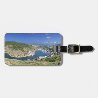 Balaklava Bay Crimea Ukraine Panorama Tag For Luggage