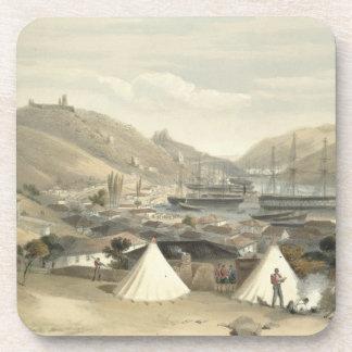 Balaklava, mirando hacia el mar, placa del 'Th Posavasos De Bebidas