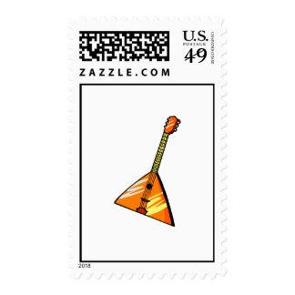 Balalaika stringed instrument graphic image postage