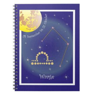 Balance 24 September until 23 October note booklet Spiral Notebook