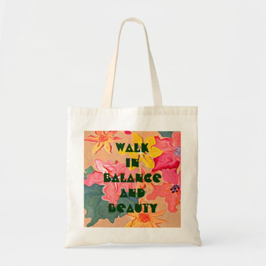 balance and beauty tote bag