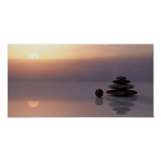 Balance and Meditation Cairn Poster