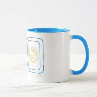 Balance and Swing Mug in Blue and Gold