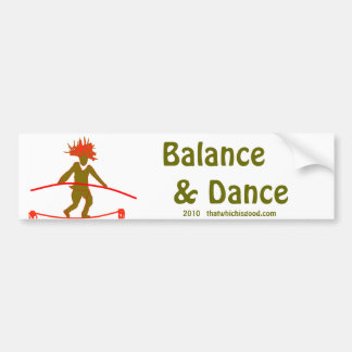 Balance...Balancing Car Bumper Sticker
