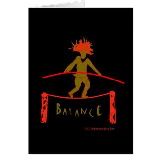 Balance...Balancing Greeting Card