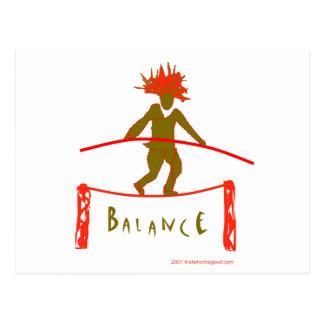 Balance...Balancing Postcard