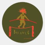 Balance...Balancing Round Sticker