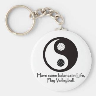 Balance Basic Round Button Keychain
