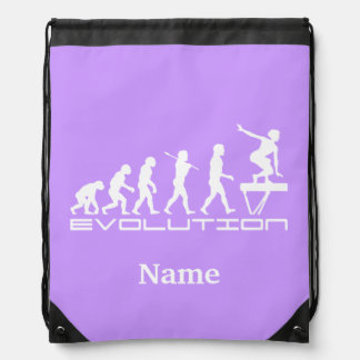 Balance Beam Gymnastics Sports Personalized Drawstring Backpacks