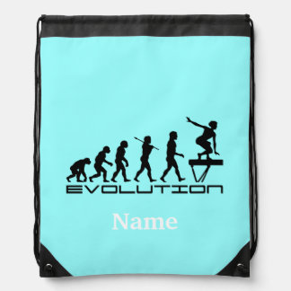 Balance Beam Gymnastics Sports Personalized Drawstring Bag
