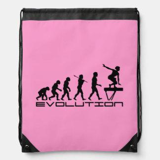 Balance Beam Gymnastics Sports Drawstring Backpack