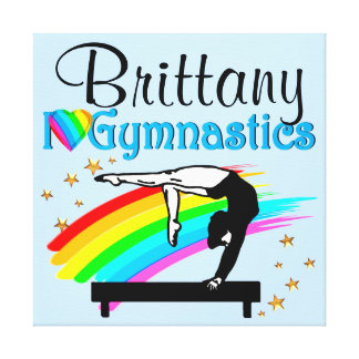 BALANCE BEAM QUEEN PERSONALIZED GYMNAST CANVAS