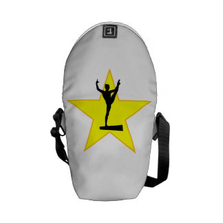Balance Beam Silhouette Star Courier Bags