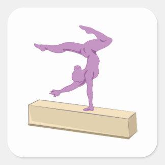 Balance Beam Square Sticker