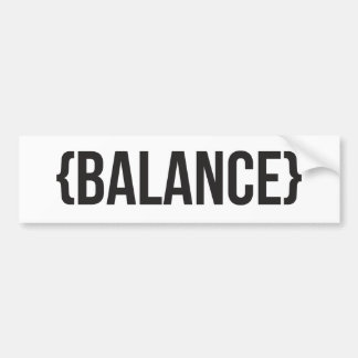 Balance - Bracketed - Black and White Car Bumper Sticker