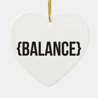 Balance - Bracketed - Black and White Ceramic Ornament