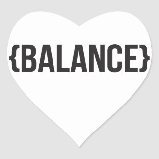 Balance - Bracketed - Black and White Heart Sticker
