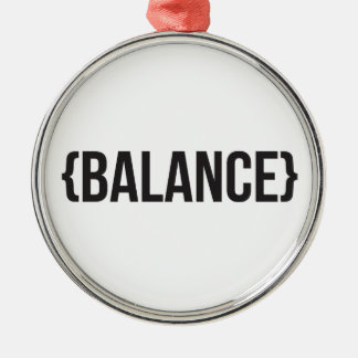 Balance - Bracketed - Black and White Metal Ornament