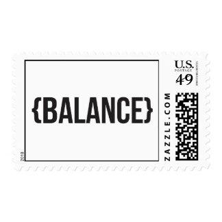 Balance - Bracketed - Black and White Stamp