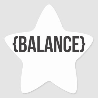 Balance - Bracketed - Black and White Star Sticker