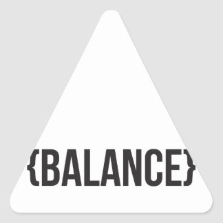 Balance - Bracketed - Black and White Triangle Sticker