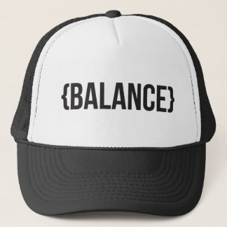 Balance - Bracketed - Black and White Trucker Hat
