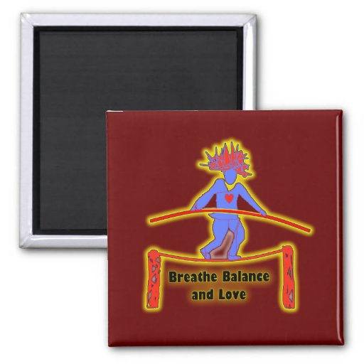 Balance Breath & Love 2 Inch Square Magnet