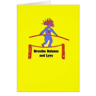 Balance Breath & Love Greeting Card
