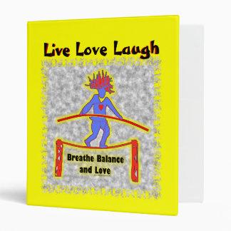 Balance Breath & Love On Gray 3 Ring Binder