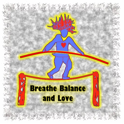 Balance Breath & Love On Gray Acrylic Cut Out