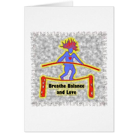Balance Breath & Love On Gray Card