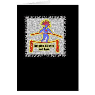 Balance Breath & Love On Gray Greeting Card