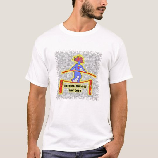 Balance Breath & Love On Gray T-Shirt