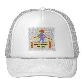 Balance Breath & Love On Gray Trucker Hat