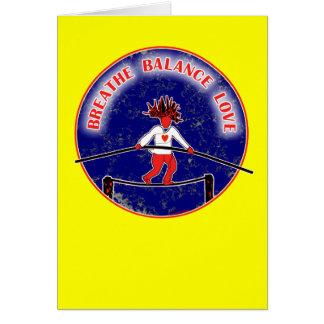 Balance Breath Love Red White Blue Greeting Card