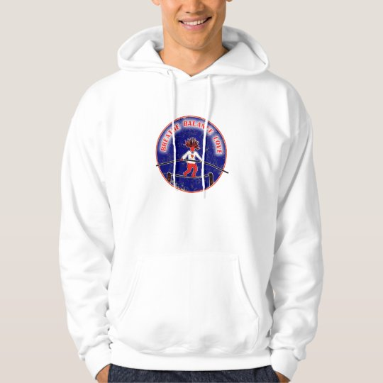 Balance Breath Love Red White Blue Hoodie