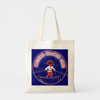 Balance Breath Love Red White Blue Tote Bag