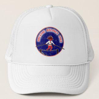 Balance Breath Love Red White Blue Trucker Hat