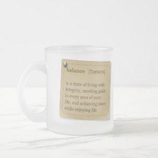 """Balance"" definition MWC mug"