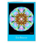 Balance ecológico tarjeta de felicitación