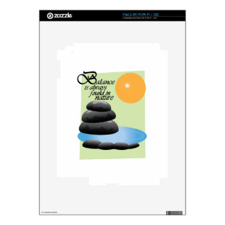 Balance Is Always Found In Nature Decal For iPad 2