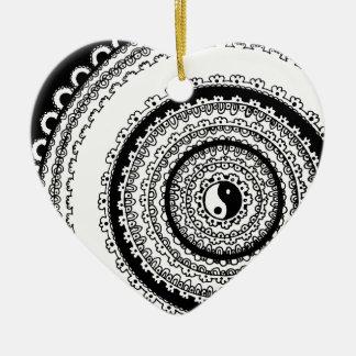 Balance Mandala Ceramic Ornament