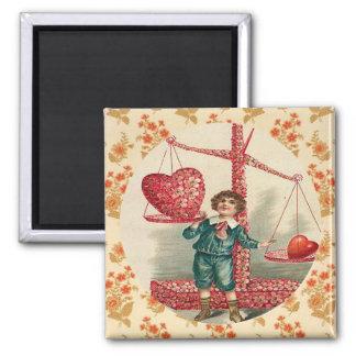 Balance of Love Vintage Artwork Custom Magnet