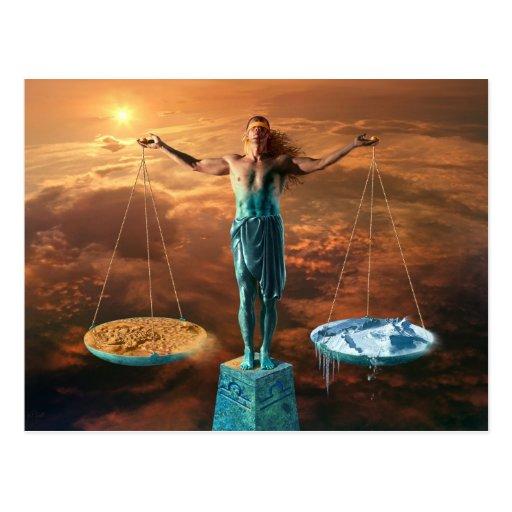 Balance - postcard