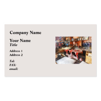 Balance Scale in General Store Business Card
