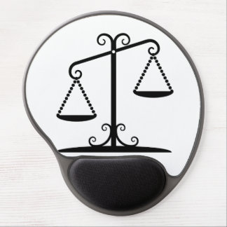 balance scales gel mouse pad