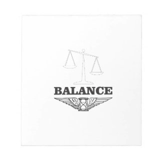 balance scales hard notepad