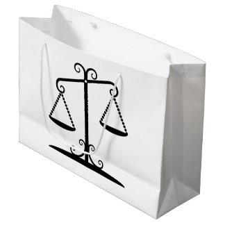 balance scales large gift bag