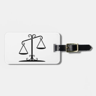 balance scales tag for luggage