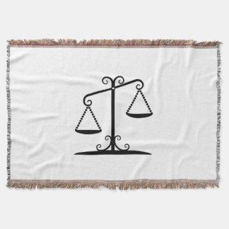 balance scales throw blanket